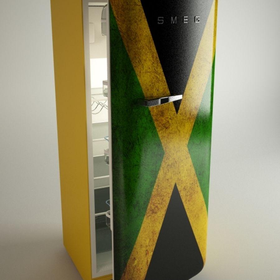 retro fridges royalty-free 3d model - Preview no. 6