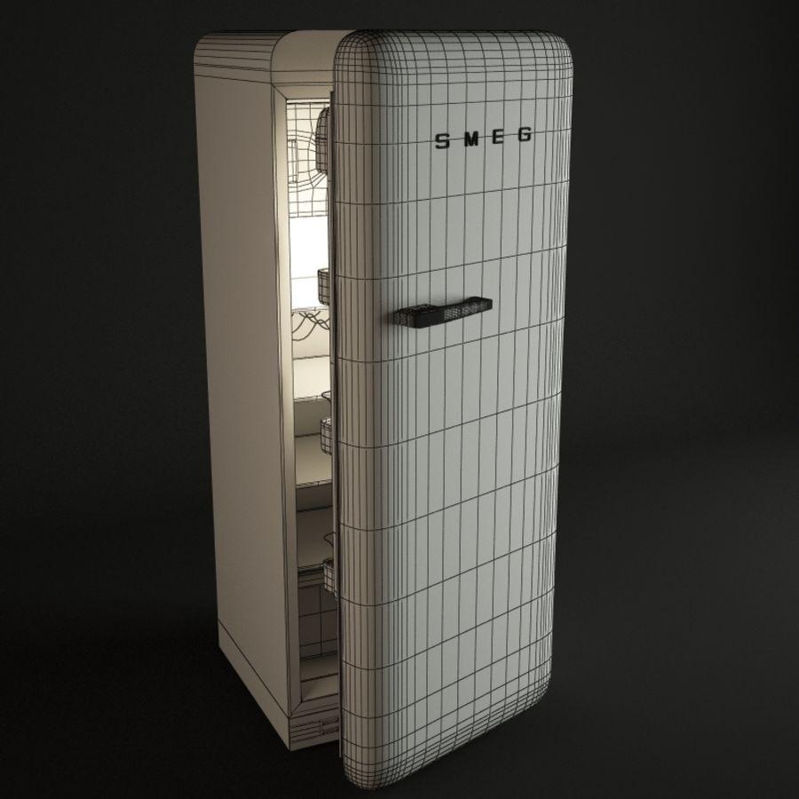 retro fridges royalty-free 3d model - Preview no. 4