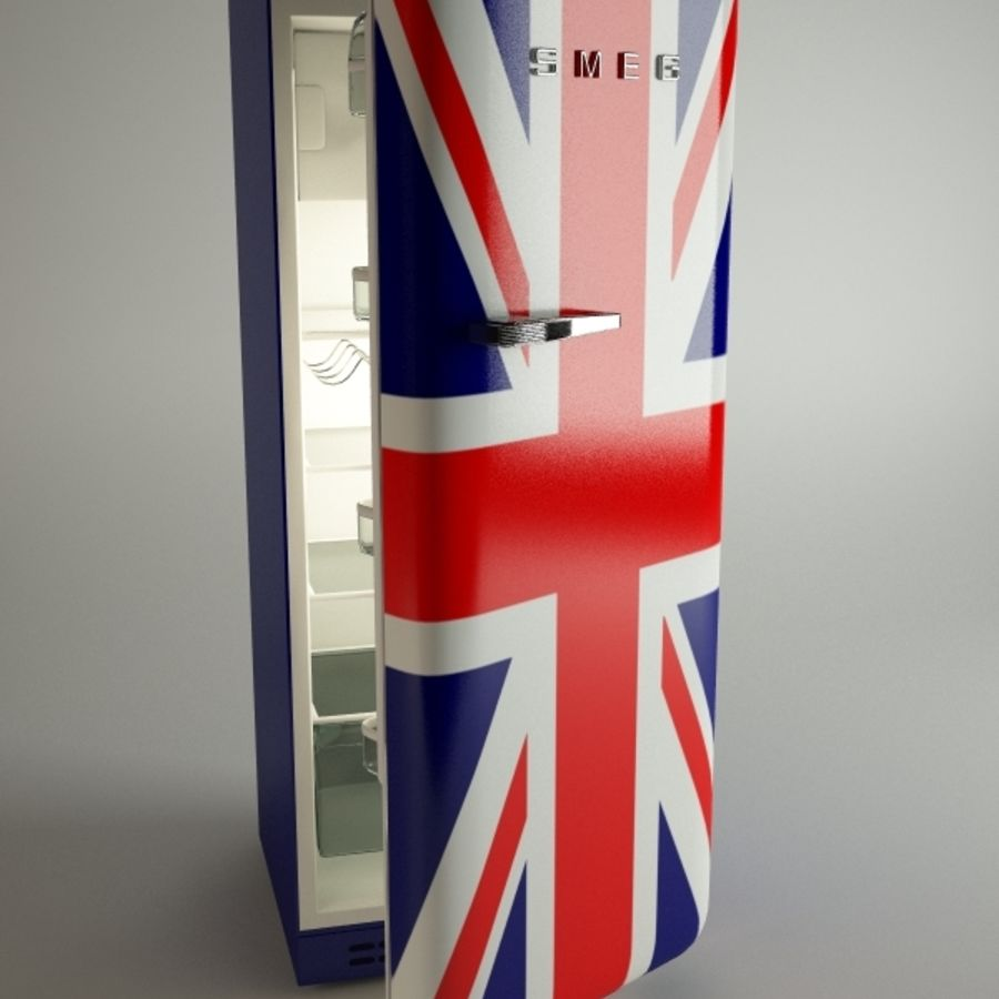 retro fridges royalty-free 3d model - Preview no. 5