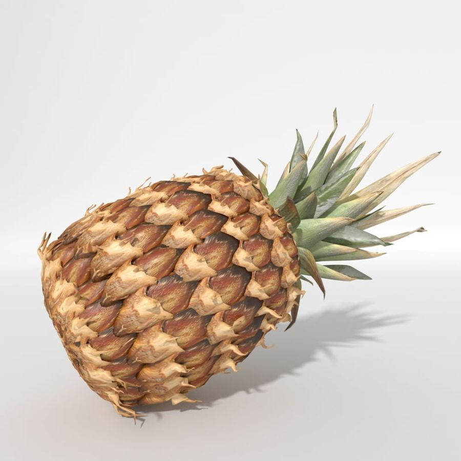 Realistic Pineapple royalty-free 3d model - Preview no. 3