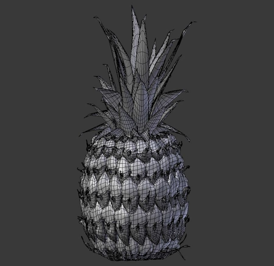 Realistic Pineapple royalty-free 3d model - Preview no. 8