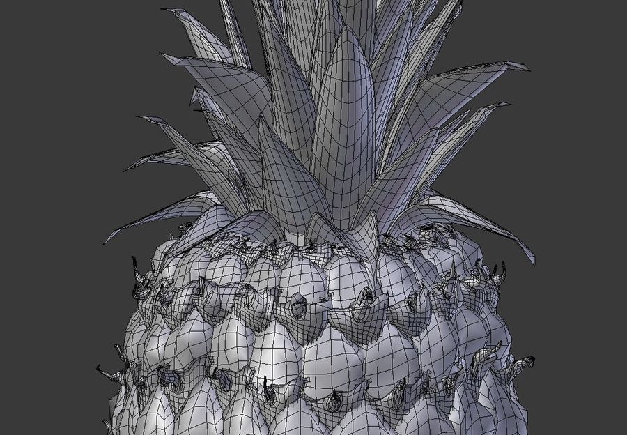 Realistic Pineapple royalty-free 3d model - Preview no. 7