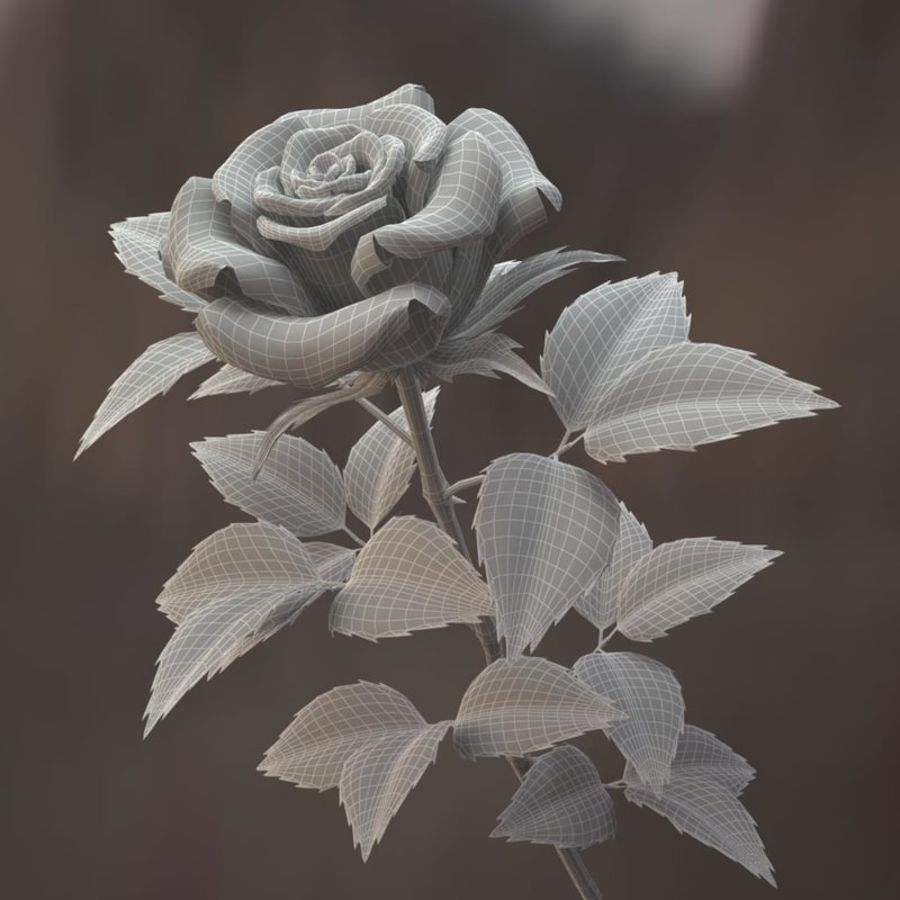 rose red royalty-free 3d model - Preview no. 8