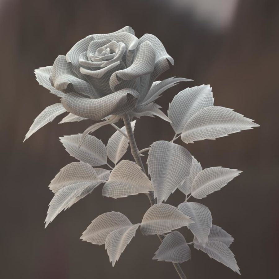 rose red royalty-free 3d model - Preview no. 9