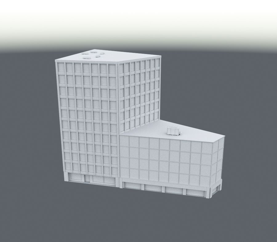 Immeuble de bureaux 03 royalty-free 3d model - Preview no. 4