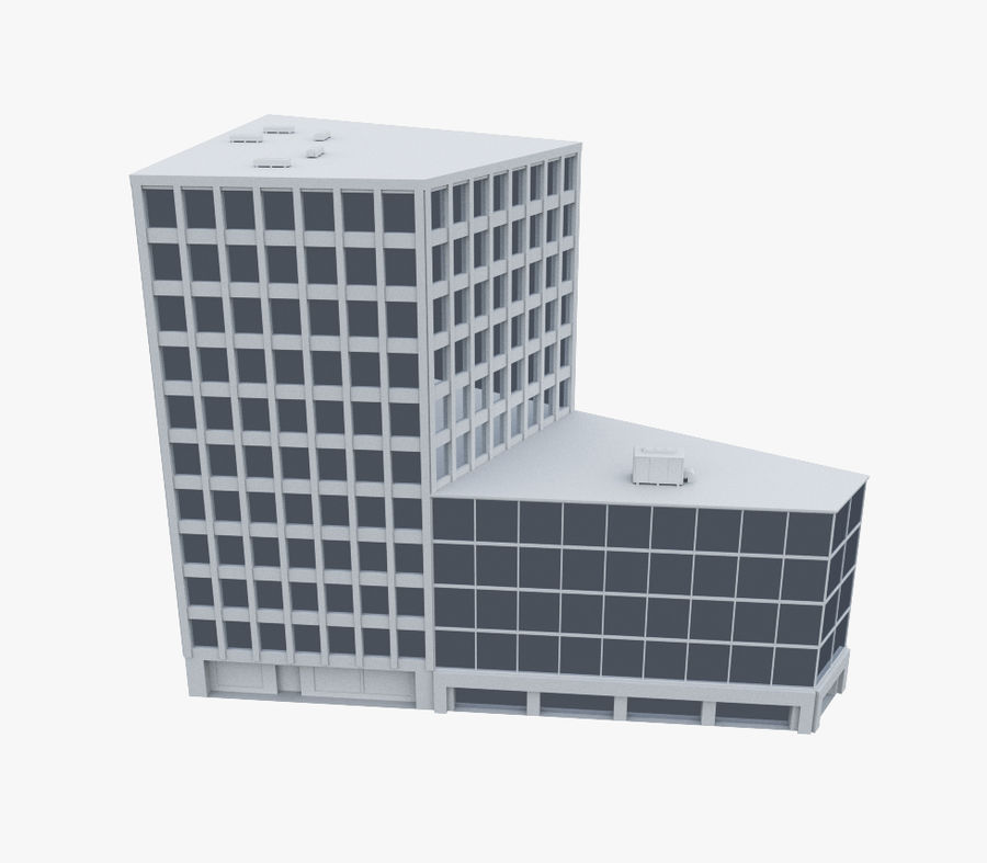 Immeuble de bureaux 03 royalty-free 3d model - Preview no. 1