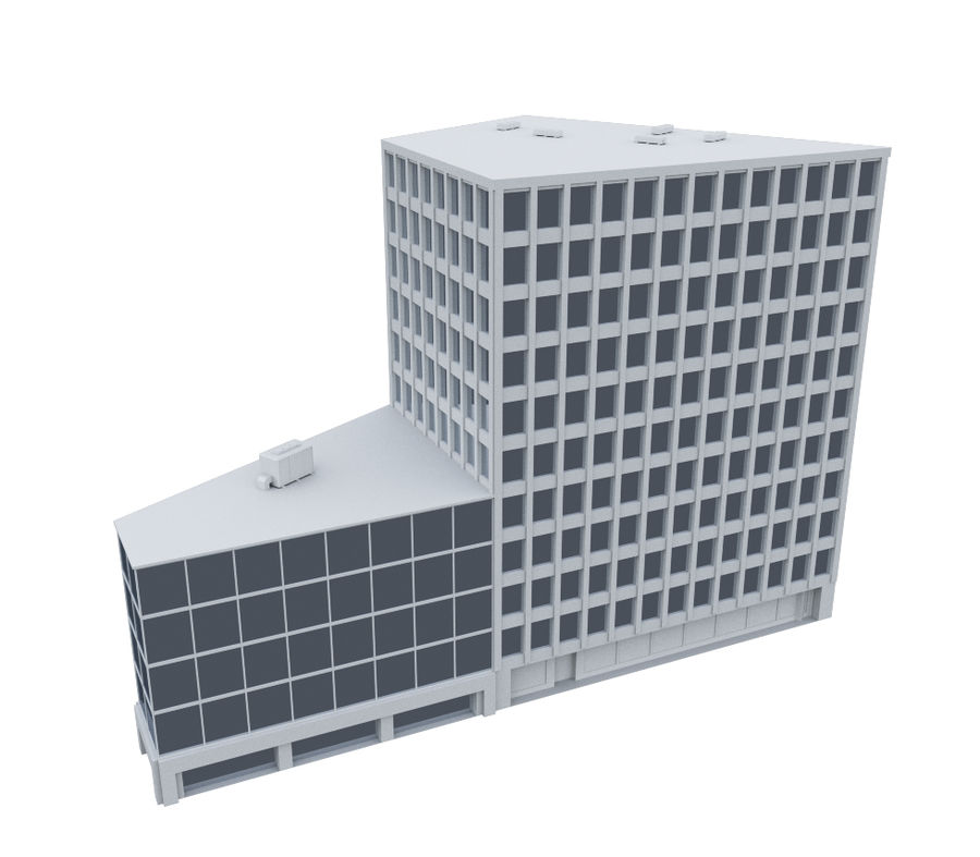 Immeuble de bureaux 03 royalty-free 3d model - Preview no. 2