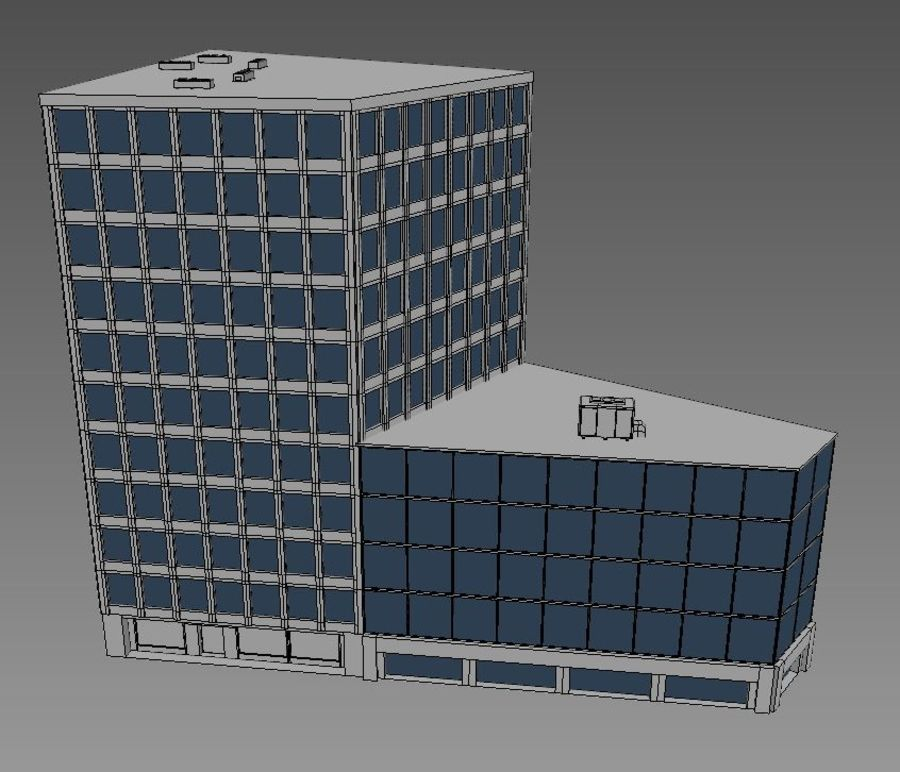 Immeuble de bureaux 03 royalty-free 3d model - Preview no. 5