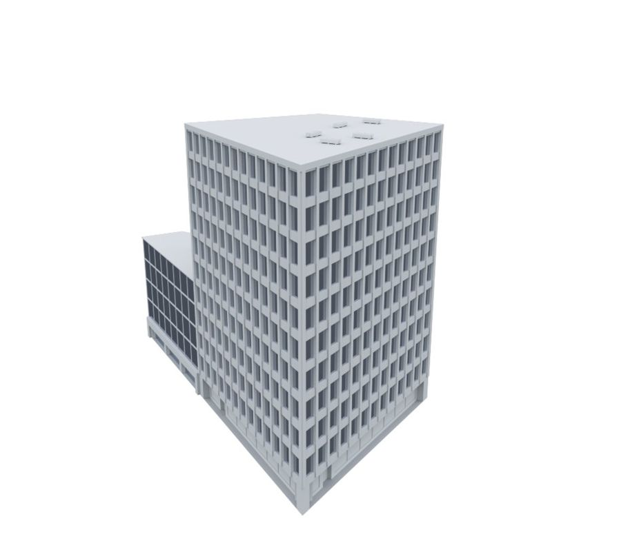 Immeuble de bureaux 03 royalty-free 3d model - Preview no. 3