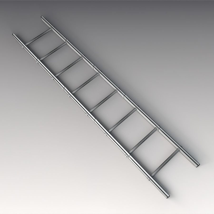 Red Ladder royalty-free 3d model - Preview no. 2