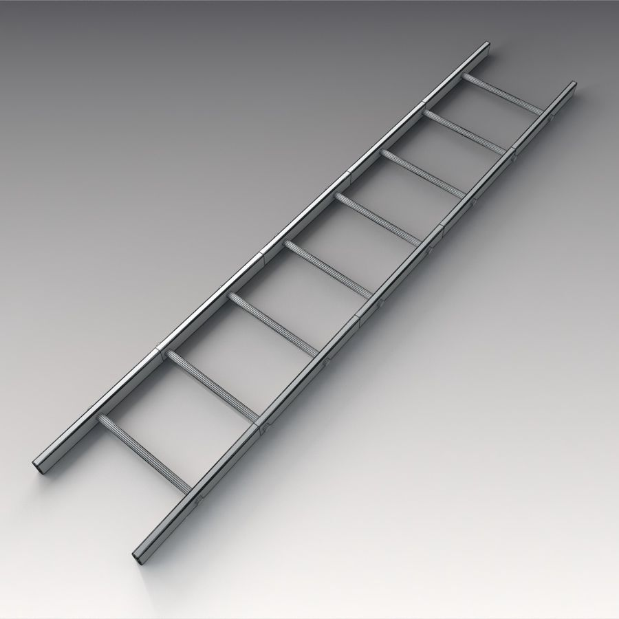 Red Ladder royalty-free 3d model - Preview no. 6