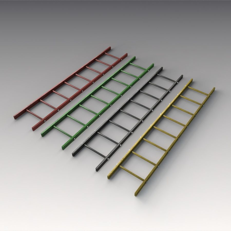 Red Ladder royalty-free 3d model - Preview no. 8