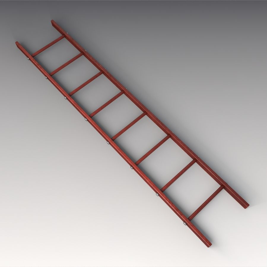 Red Ladder royalty-free 3d model - Preview no. 1
