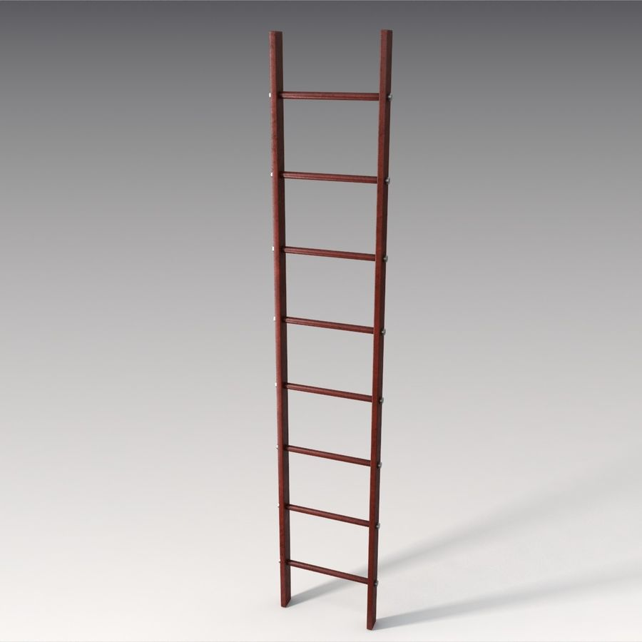 Red Ladder royalty-free 3d model - Preview no. 4