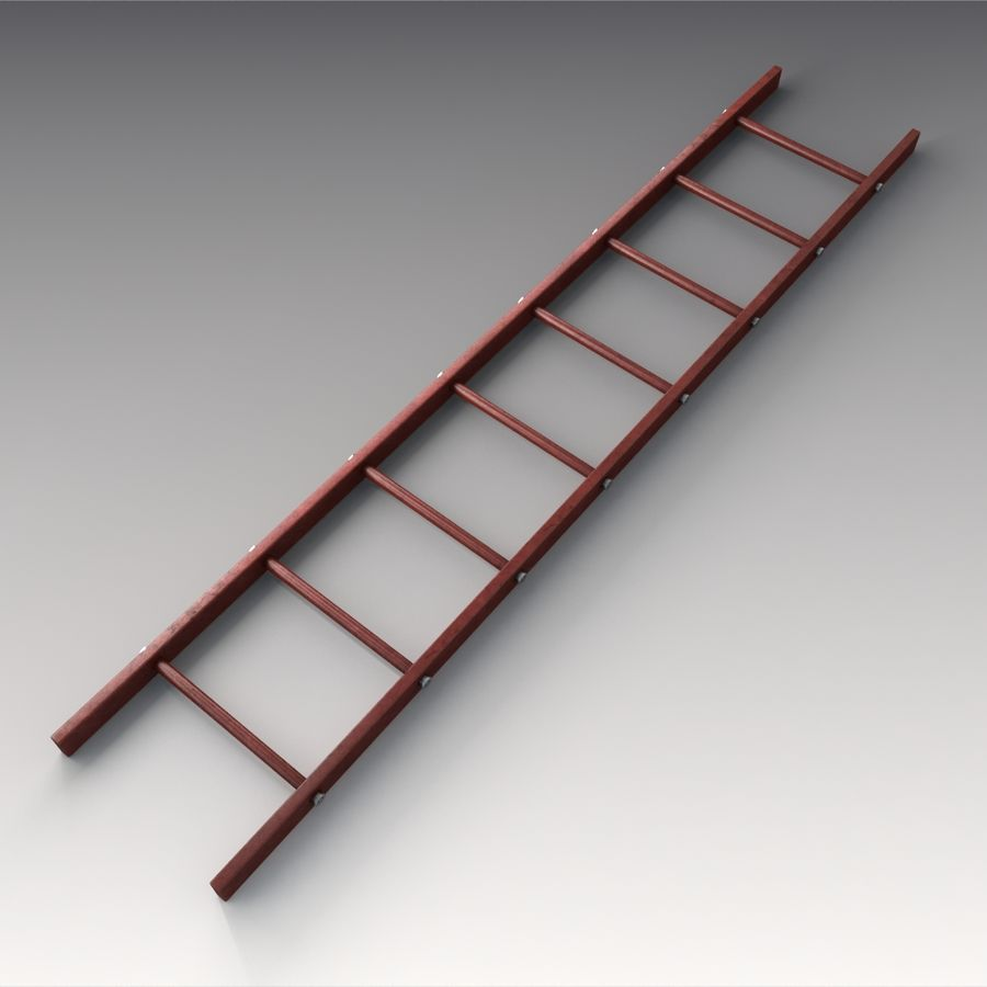 Red Ladder royalty-free 3d model - Preview no. 5