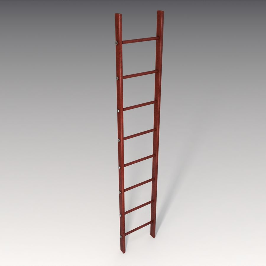 Red Ladder royalty-free 3d model - Preview no. 3