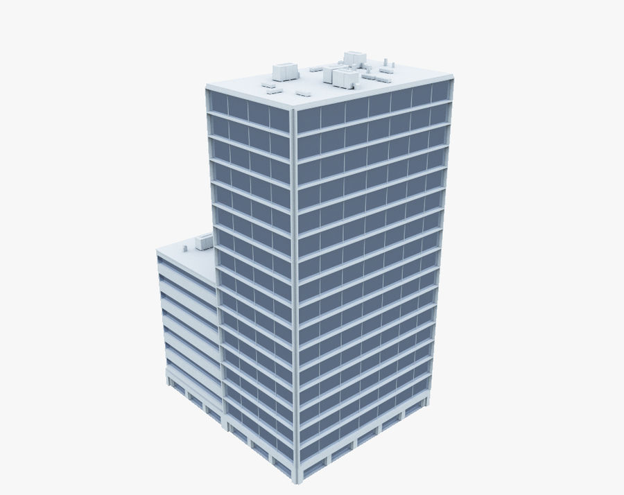 Office Building 01 royalty-free 3d model - Preview no. 3