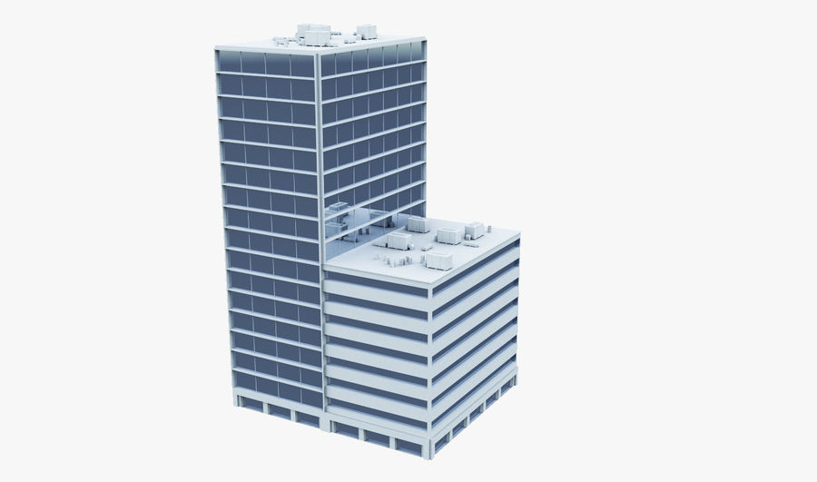 Office Building 01 royalty-free 3d model - Preview no. 1