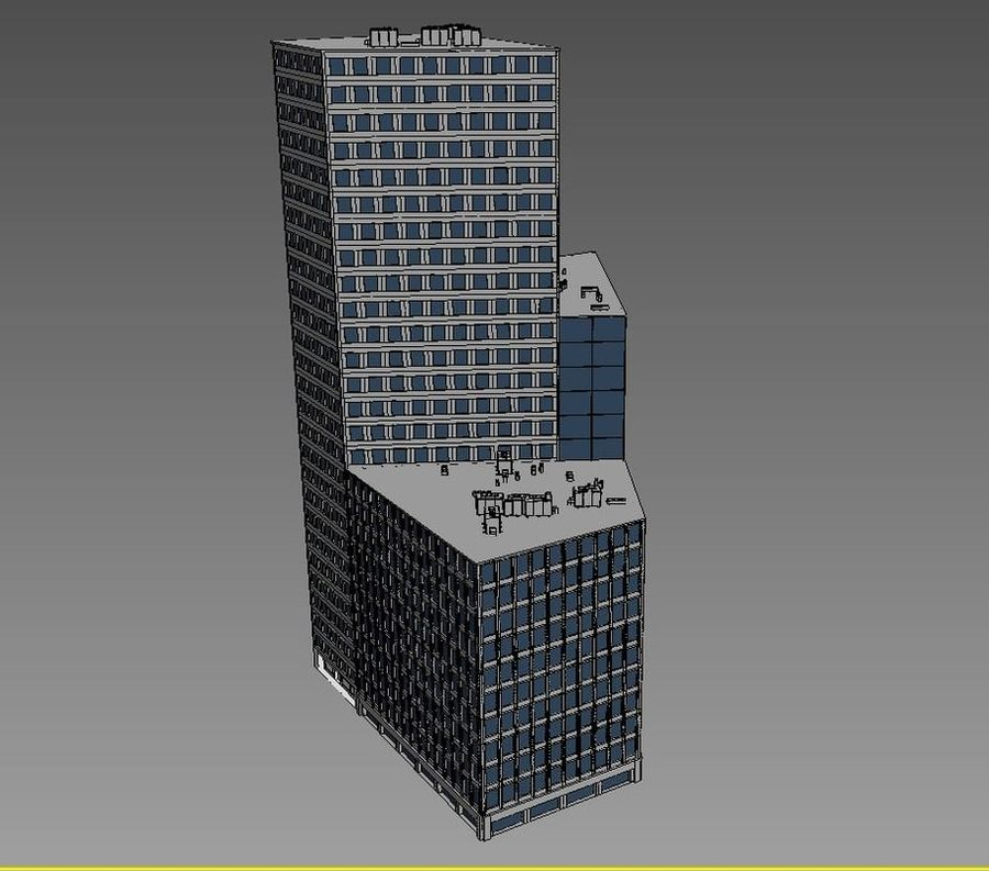 Office Building 01(1) royalty-free 3d model - Preview no. 5
