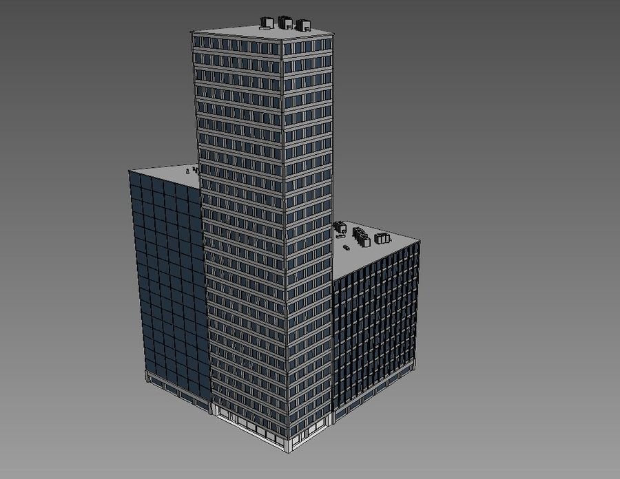 Office Building 01(1) royalty-free 3d model - Preview no. 4