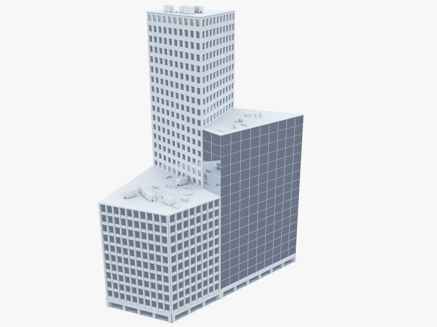 Office Building 01(1) royalty-free 3d model - Preview no. 1