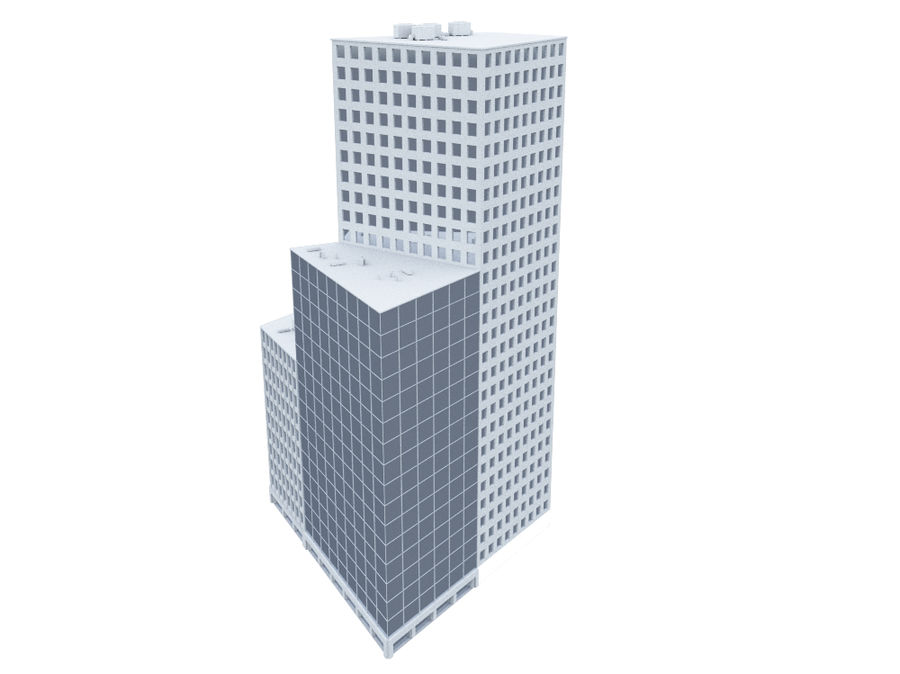 Office Building 01(1) royalty-free 3d model - Preview no. 2