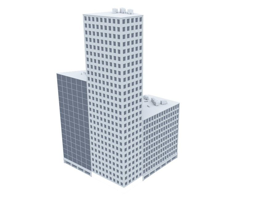 Office Building 01(1) royalty-free 3d model - Preview no. 3