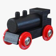 Wooden Toy Train 3 3d model