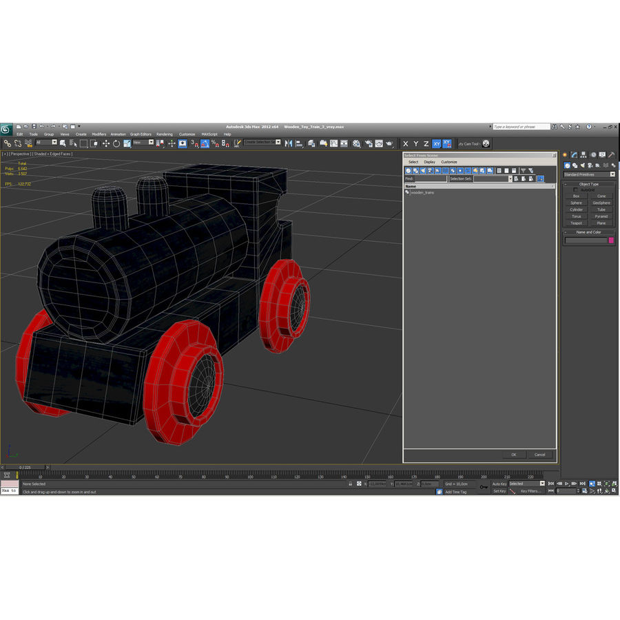 Wooden Toy Train 3 3D Model $19 -  c4d  ma  max  obj  3ds