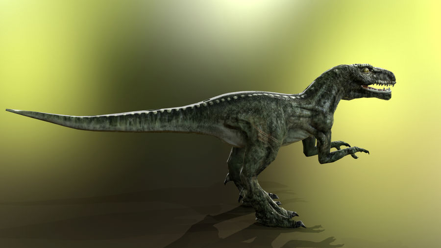Dinosaur (Random) royalty-free 3d model - Preview no. 8