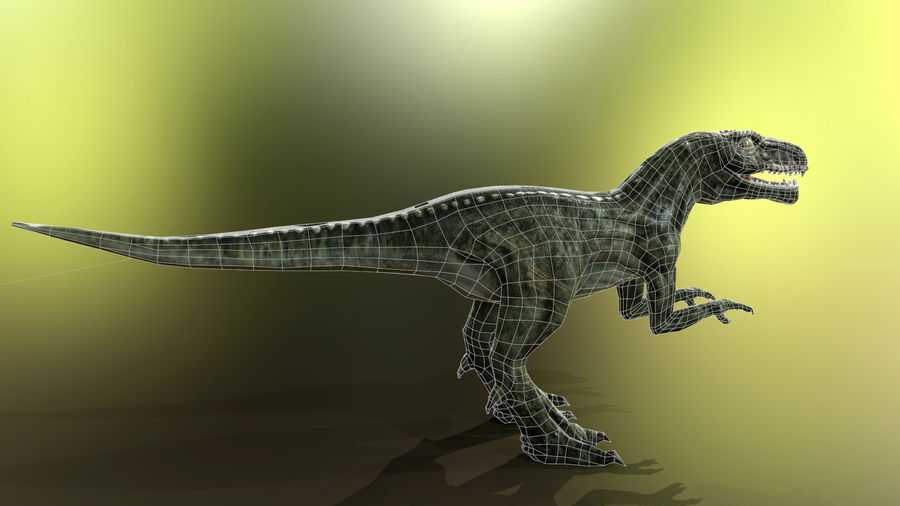 Dinosaur (Random) royalty-free 3d model - Preview no. 9