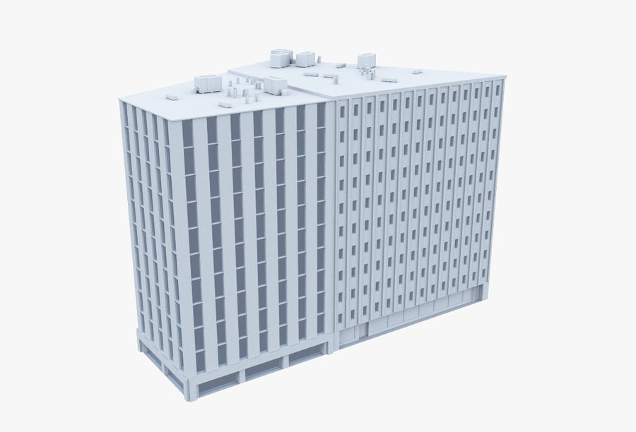 Office Building 06 royalty-free 3d model - Preview no. 1