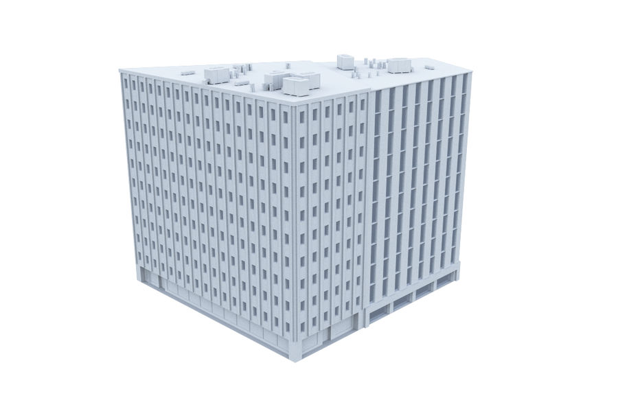 Office Building 06 royalty-free 3d model - Preview no. 2