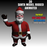 Santa 3D Model Rigged and Animated 3d model