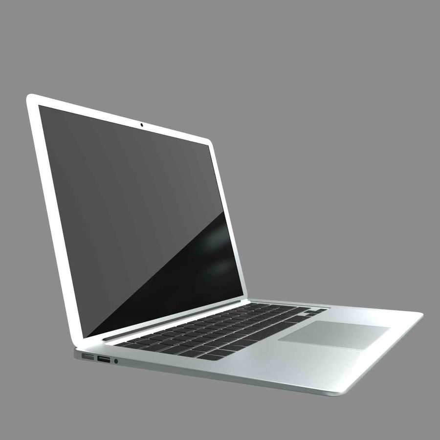 laptop slim royalty-free 3d model - Preview no. 1