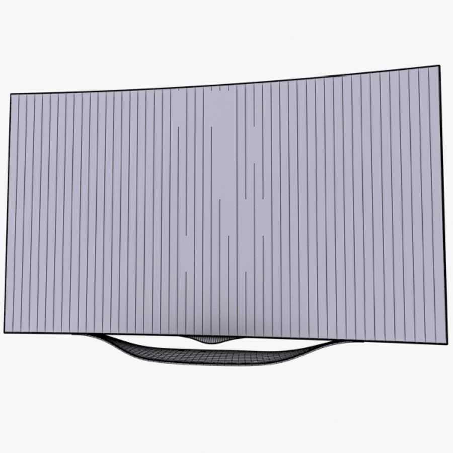 LG OLED Smart TV royalty-free 3d model - Preview no. 16