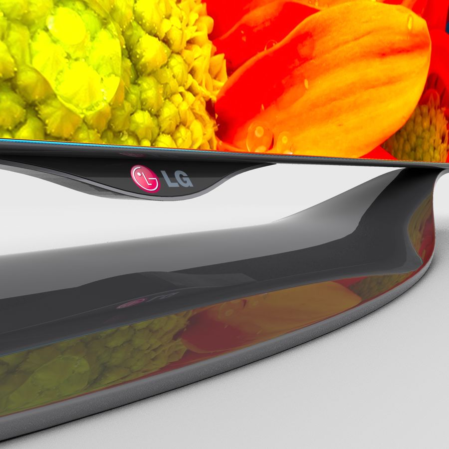LG OLED Smart TV royalty-free 3d model - Preview no. 15