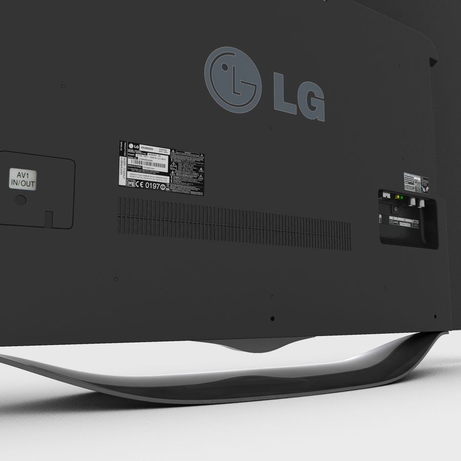 LG OLED Smart TV royalty-free 3d model - Preview no. 13