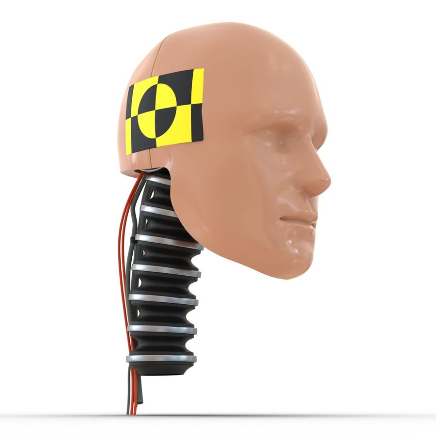 Man Crash Test Dummy Head royalty-free 3d model - Preview no. 8
