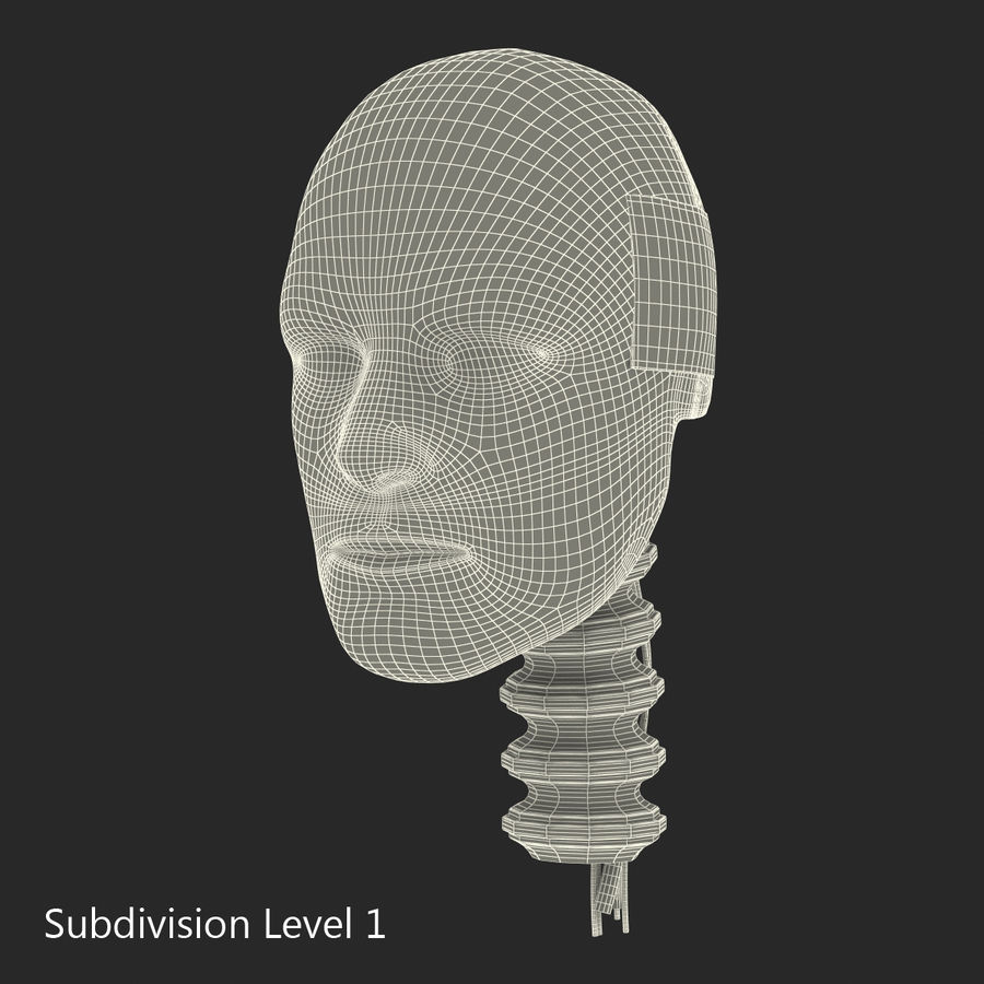 Man Crash Test Dummy Head royalty-free 3d model - Preview no. 17