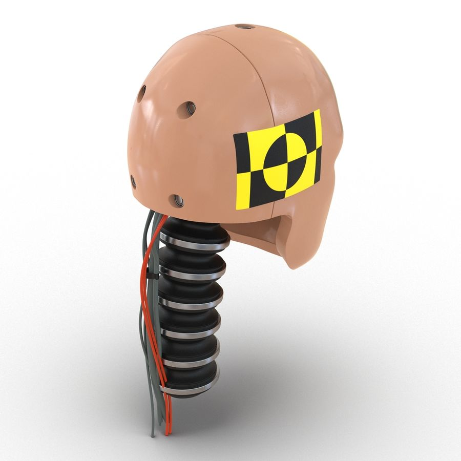 Man Crash Test Dummy Head royalty-free 3d model - Preview no. 6