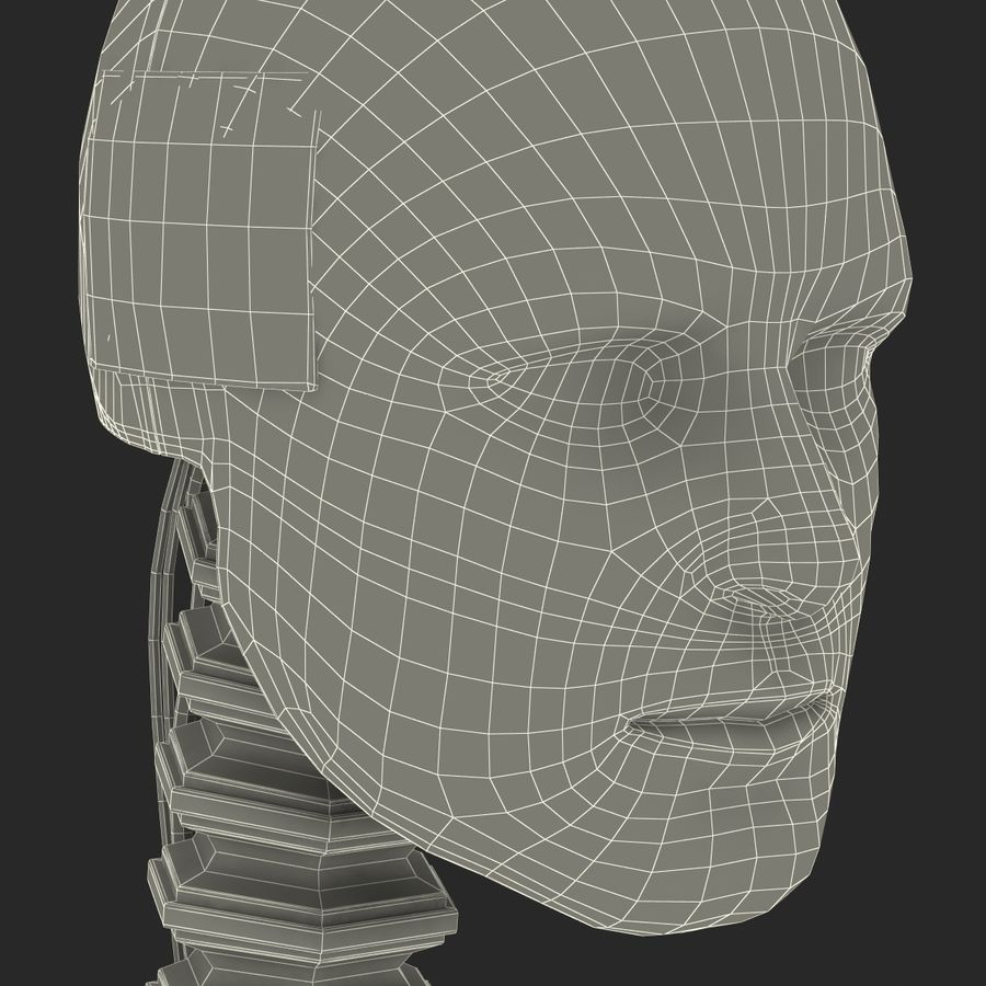 Man Crash Test Dummy Head royalty-free 3d model - Preview no. 27