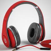 Monster Beats Studio Headphones with headset 3d model