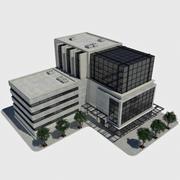 Современное офисное городское здание - HD Cityscape Tile 1 3d model