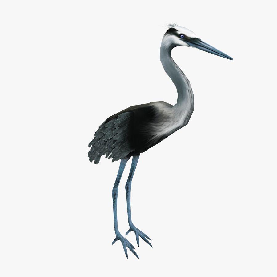 Heron royalty-free 3d model - Preview no. 5