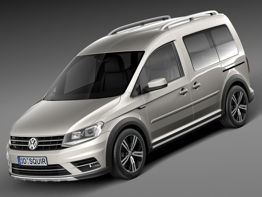 volkswagen caddy alltrack 2016 3d model 129 obj max lwo fbx c4d 3ds free3d. Black Bedroom Furniture Sets. Home Design Ideas