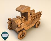 carro de madeira 6 3d model