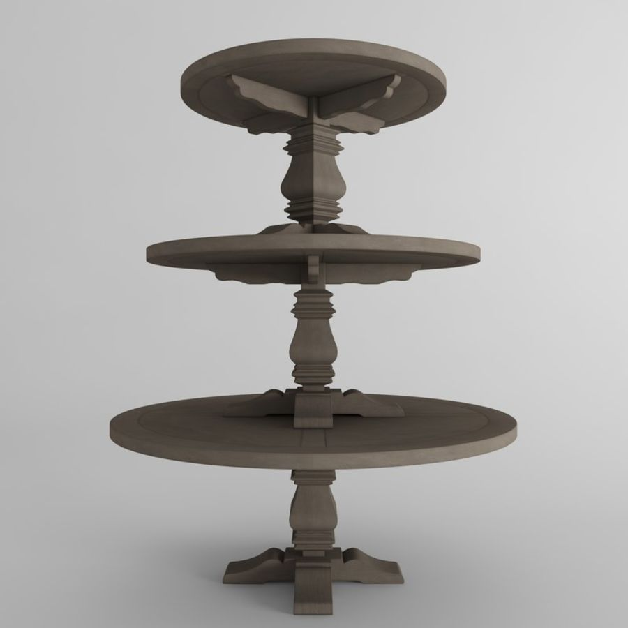SALVAGED WOOD TRESTLE ROUND DINING TABLE D Model Fbx Max - Salvaged wood trestle round dining table
