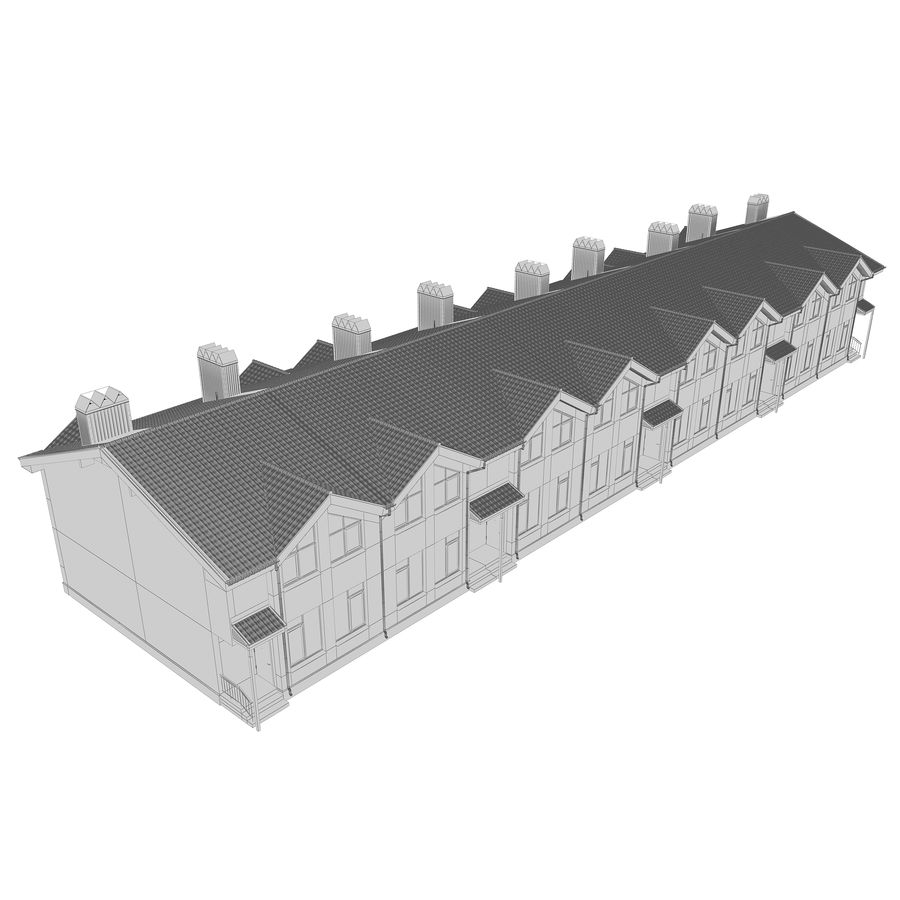 Townhouse royalty-free 3d model - Preview no. 9