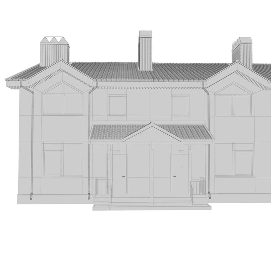 Townhouse royalty-free 3d model - Preview no. 8